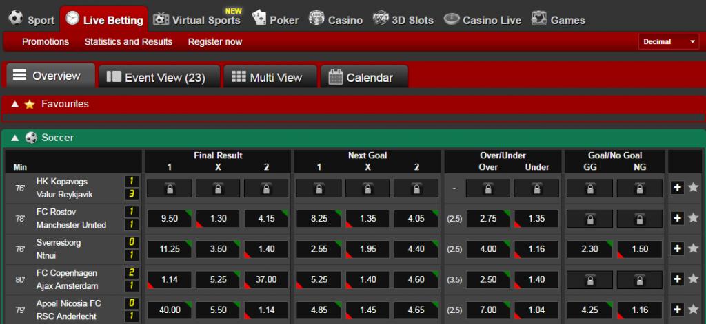 betting live
